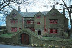 The abandoned Shuttleworth Hall, Hapton, Burnley, Lancashire, England. Old Abandoned Buildings, Abandoned Castles, Abandoned Places, Castle House, Up House, Old Mansions, Abandoned Mansions, Scary Places, Haunted Places