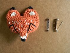 FOX PIN PATTERN #crochet #amigurumi #diy