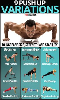 The World's Best Pushup Workout If you're sick of doing the same old exercises—the same old way—it's probably time to rethink your approach. And take it from us: There's never just a single way to do any exercise. In fact,… Continue Reading → Fitness Workouts, Push Up Workout, Gym Workout Chart, Calisthenics Workout, Gym Workout Videos, Gym Workout Tips, Workout Challenge, Fun Workouts, At Home Workouts