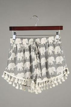 Elephant Pom Pom Shorts