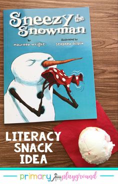 Literacy Snack Idea Snowman