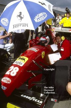Gerhard Berger, Ferrari 412T2, Silverstone, British Grand Prix 1995