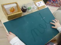 The children in our class have been actively engaged and loving this new, simple writing lesson. Inspired by the Handwriting Without T. Montessori Classroom, Montessori Activities, Kindergarten Literacy, Preschool, Language Lessons, Language Activities, Language Arts, Learn Handwriting, Teacher Office