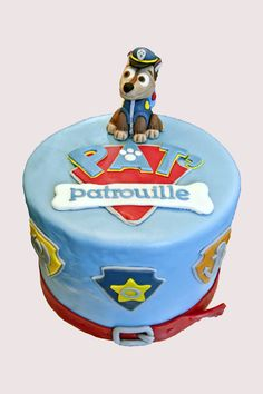 Paw Patrol cake. Gâteau Pat' patrouille.