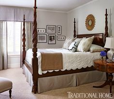 Traditional Bedrooms will an all blue and white home look weird? | traditional bedroom
