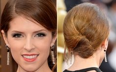 Veja os makes e os cabelos das celebs no Oscar 2014 Anna Kendrick, Bridal Hair Buns, Oscars 2014, Bun Hairstyles, Looks Great, Hair Accessories, Make Up, Eyes, Beauty