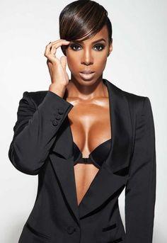 Kelly Rowland + short cut + beat makeup