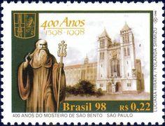 Stamp: 400 years Mosteiro São Bento (Brazil) Mi:BR 2879,Sn:BR 2681,Yt:BR 2449,RHM:BR C-2142