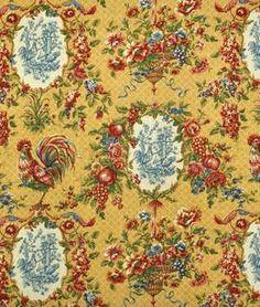 Waverly Saison De Printemps Saffron Fabric