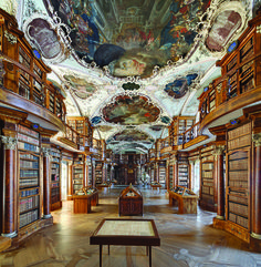 ABBEY LIBRARY OF ST. GALL, SWITZERLAND // A new, lavish coffee-table book, Libraries, pays homage to 44 of the world's most beautiful libraries. Here, the Abbey Library of St. Gall, designed by Peter Thumb, 1767.