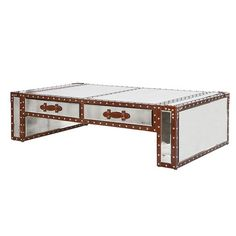 The Flying Dutchman Mirror U0026 Leather Trunk Coffee Table