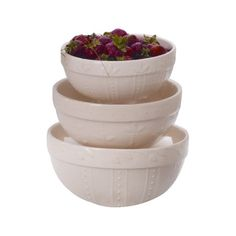 I pinned this 3 Piece Campania Tria Dessert Bowl Set in Ivory from the Sorrento Collections event at Joss and Main!