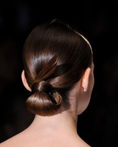 WrappedLow Bun Hair StyleTrend for Spring Summer 2013.  GucciSpring