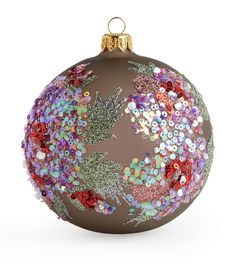 Shop designer Christmas Decorations at Harrods and earn Rewards points, in-store and online. Christmas Decorations To Make, Christmas Themes, Christmas Crafts, Seasonal Decor, Holiday Decor, Glitter Ornaments, Christmas Baubles, All Things Christmas, Floral