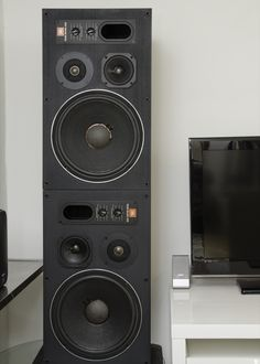 My 26 Year old with NEW Factory JBL offical surrounds, These 1989 pair were the last of the wood finish studio monitors. Studio Speakers, Big Speakers, Monitor Speakers, Speaker Stands, Speaker System, Radios, Floor Standing Speakers, Professional Audio, Good Old Times