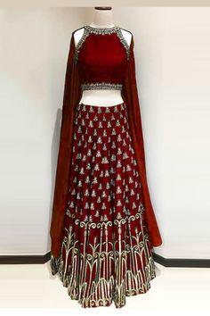 b4c6402ce8028 Art Silk Lehenga Choli In Red Colour