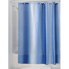 #manythings The #InterDesign Ombre Shower Curtain creates a spa-inspired retreat. The melodic colors mimic deep sea ocean waves and brings a calm, relaxing feel ...