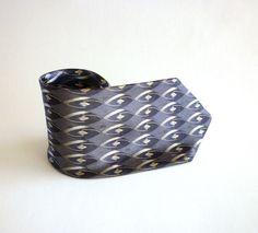 Vintage Stafford Steel Blue Silk Necktie - $24