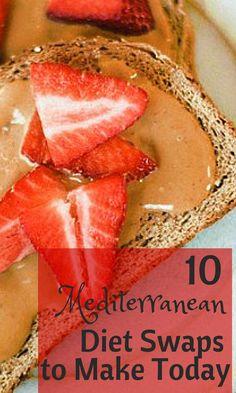 10 Easy Mediterranean Diet Swaps to Make – Mediterranean - Paleo Diet 1200 Calorie Diet Meal Plans, Healthy Diet Plans, Healthy Foods To Eat, Healthy Snacks, Healthy Eating, Healthy Recipes, Keto Recipes, Med Diet, Medatrainian Diet