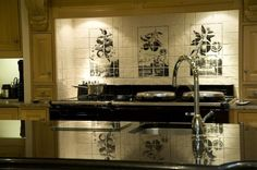 tiles behind aga - Google Search Fired Earth, Kitchen Wall Tiles, Aga, Double Vanity, Sink, Google Search, Home Decor, Sink Tops, Vessel Sink