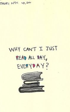 I really miss reading!