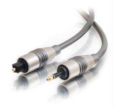 C2G 2m Velocity™ Toslink-to-Optical Mini Plug Digital Cable