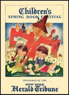 POSTER: CHILDREN'S SPRING BOOK FESTIVAL (circa 1950) - illustrated by Masha.