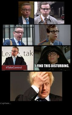 Anyone else noticed the similarity between Rick Moranis and Michael Gove? #brexit #referendum
