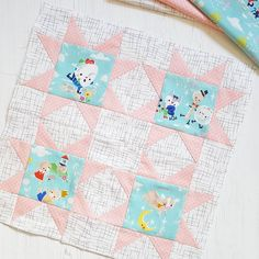 May round-up – What Saysie Makes Baby Girl Quilts, Girls Quilts, Antique Quilts, Vintage Quilts, Little Log Cabin, Quilting Designs, Quilt Design, Fabric Combinations, Contemporary Quilts