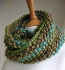 Eight by Six: free knitting pattern (moss stitch snood)
