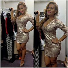 Sequined dress.