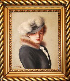 František Xaver Diblík (1887 – 1955) | Portrét dámy | www.marold.cz/aukce