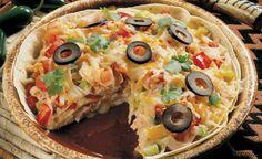 Leftover turkey idea   Turkey Farmers of Canada   Recipes   Enchilada-Style Deep Dish Pizza