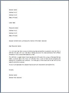 sample admiration letter template formal word templates