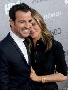 Justin Theroux et Jennifer Aniston à New York le 23 juin 2014.