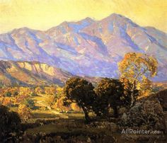 Edgar Payne,Canyon Mission Viejo, Capistrano oil painting reproductions for sale Oil Painting On Canvas, Canvas Art Prints, Painting Art, Landscape Art, Landscape Paintings, Edgar Payne, Oil Painting Reproductions, Traditional Paintings, Impressionism