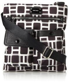 Nine West 9 On The Go Cross Body Bag,Black Multi,One Size - #Handbag