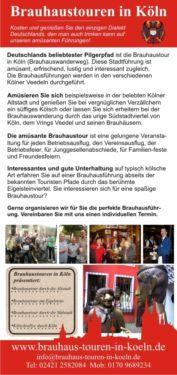 Lustige Brauhaustour Eigelstein inkl. Kölsch und Brauhausteller! in Innenstadt - Köln Altstadt | Reise und Eventservice | eBay Kleinanzeigen