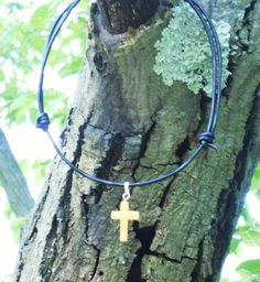 Golden/Yellow Calcite Cross YOUTH Leather Necklace  https://www.etsy.com/listing/238470278/ooak-goldenyellow-calcite-cross-youth