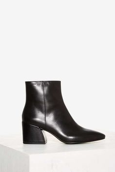 Vagabond Olivia Leather Boot - Black - Shoes