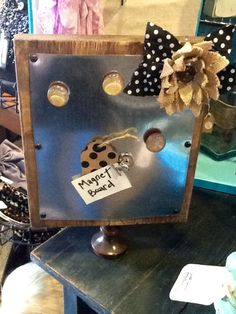 Repurposed magnet board