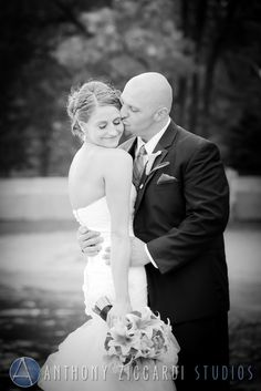 We caught a special moment between Allie and Craig.  #wedding #bride #groom #justmarried #weddingday #photography #mrandmrs #blackandwhite #photography #anthonyziccardistudios #aziccardi