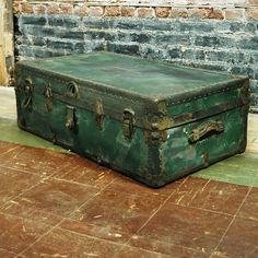 Green Footlocker Trunk