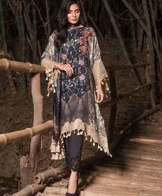 90c6347799d Sobia Nazir Winter Collection 2017 Black Pakistan Indian