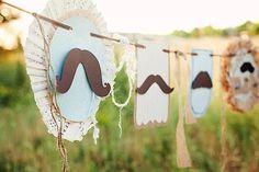 Little Man + Mustache Mr Man Baby Shower Birthday Party Planning