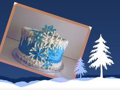 frozen birthday decorations | Disney's Frozen inspired birthday cake. by... | Cake Decorating Ideas