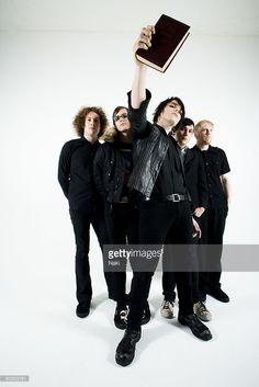 My Chemical Romance posed in London on November 05 2005. L - R Ray Toro, Mikey Way, Gerard Way, Frank Iero, Bob Bryar