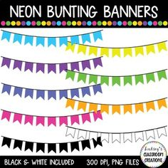 Free Banner, Bunting Banner, Banners, Teacher Freebies, Teacher Resources, Free Clipart For Teachers, Bunting Template, Banner Clip Art, Roller Skating Party
