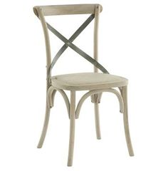 Pair Kasson French Country Paris Cafe Wood Metal Dining Chair Solid Wood Dining Chairs, Upholstered Dining Chairs, Cafe Chairs, Kitchen Chairs, Kitchen Dining, Kitchen Wood, Dining Chair Set, Dining Room Chairs, Dining Tables