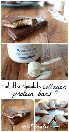 Chocolate Collagen Protein Bars | Cook It Up Paleo